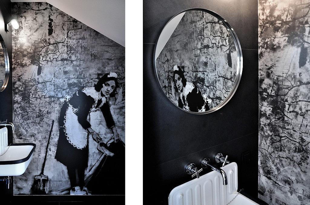 Banksy w łazience | proj. MSWW