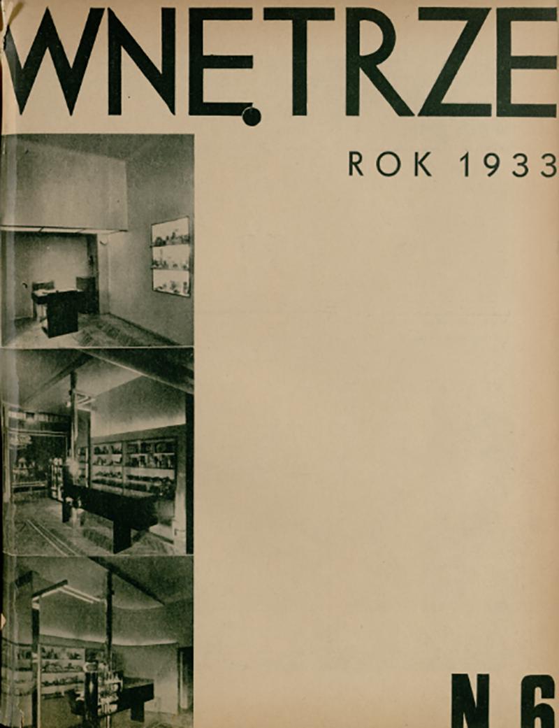 """Okładka miesięcznika """"Wnętrze"""" 1933/6"""