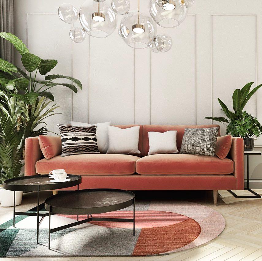 Sofa pink może być stylowa! (proj. PIM cocnept)