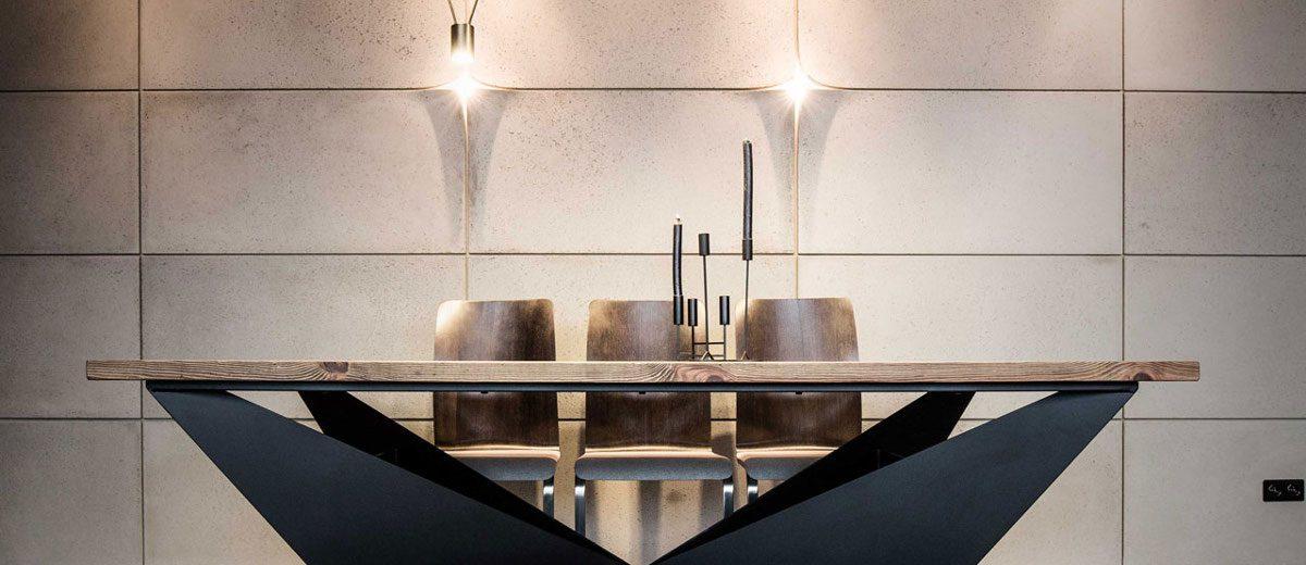 Jadalnia w stylu industrialnym | proj. One Design (Katarzyna Barbella-Aponte)