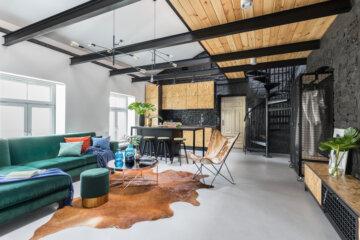 Loft z antresolą | proj. One Design, architekt Monika Pniewska