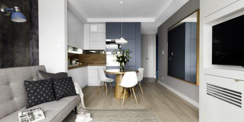 Niewielkie mieszkanie w skandynawskim stylu | proj. JT Grupa