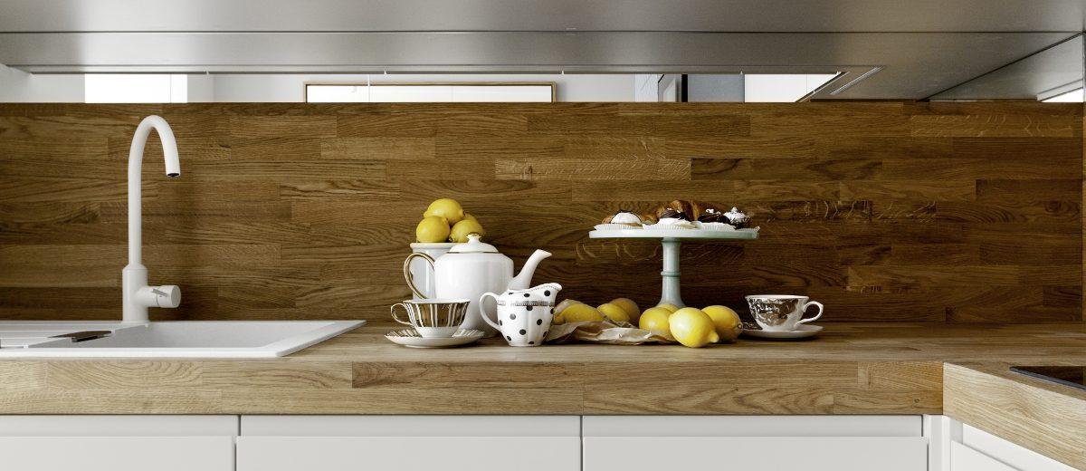 Biało - drewniane meble kuchenne to nieodłączny element skandynawskiego stylu