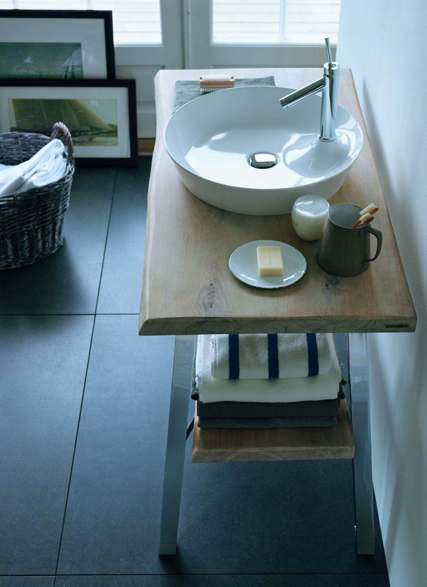 Okrągła umywalka stawiana Cope Code od Duravit