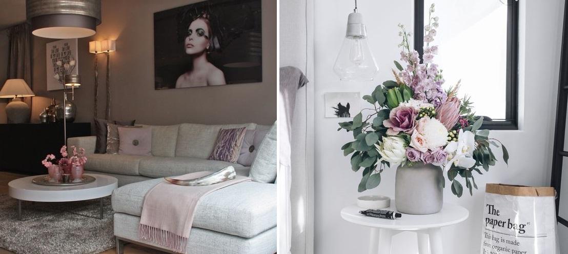 Elegancki salon z nuta Skandynawii i glamour