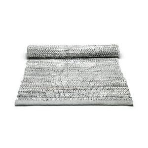 Dywan bawełniany Rugsolid kolekcja Leather Light Grey