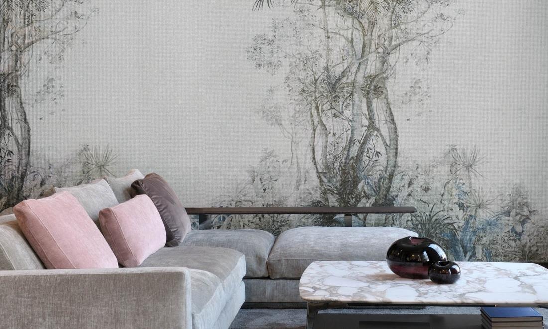 Soft urban jungle - tapeta Monsoon od Arte jest dostępna w naszych showroomach