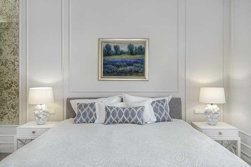 Sypialnia w stylu hampton | proj. Katarzyna Kraszewska