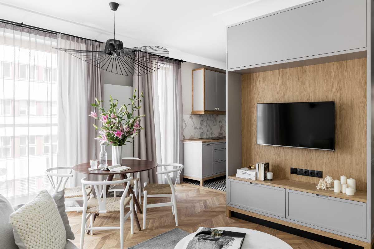 Wnętrze w stylu skandynawskim | proj. JT Grupa, photo: Alexandra Dermont Ayuko Studio
