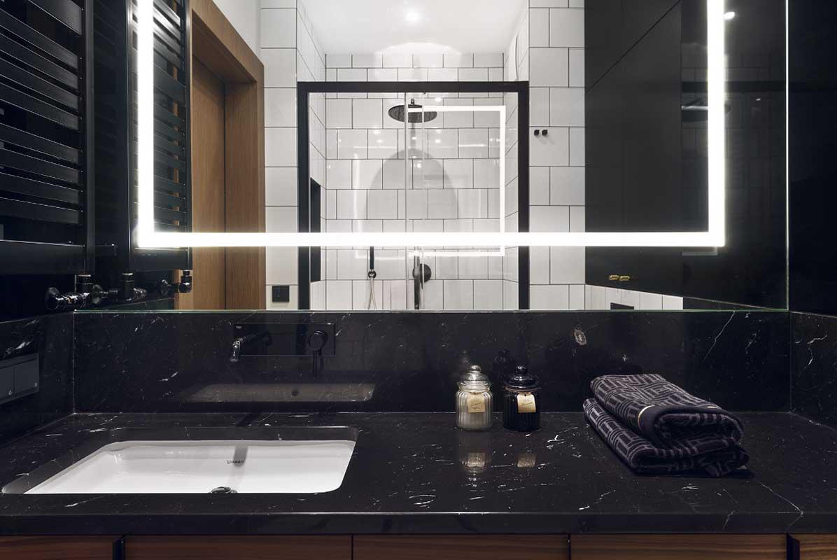 Umywalki to nie tylko praktyczny element wyposażenia, ale też estetyzujący wnętrze | proj. JT Grupa