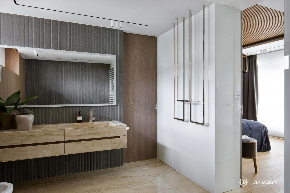 Umywalka meblowa w aranżacji łazienki HOLA DESIGN