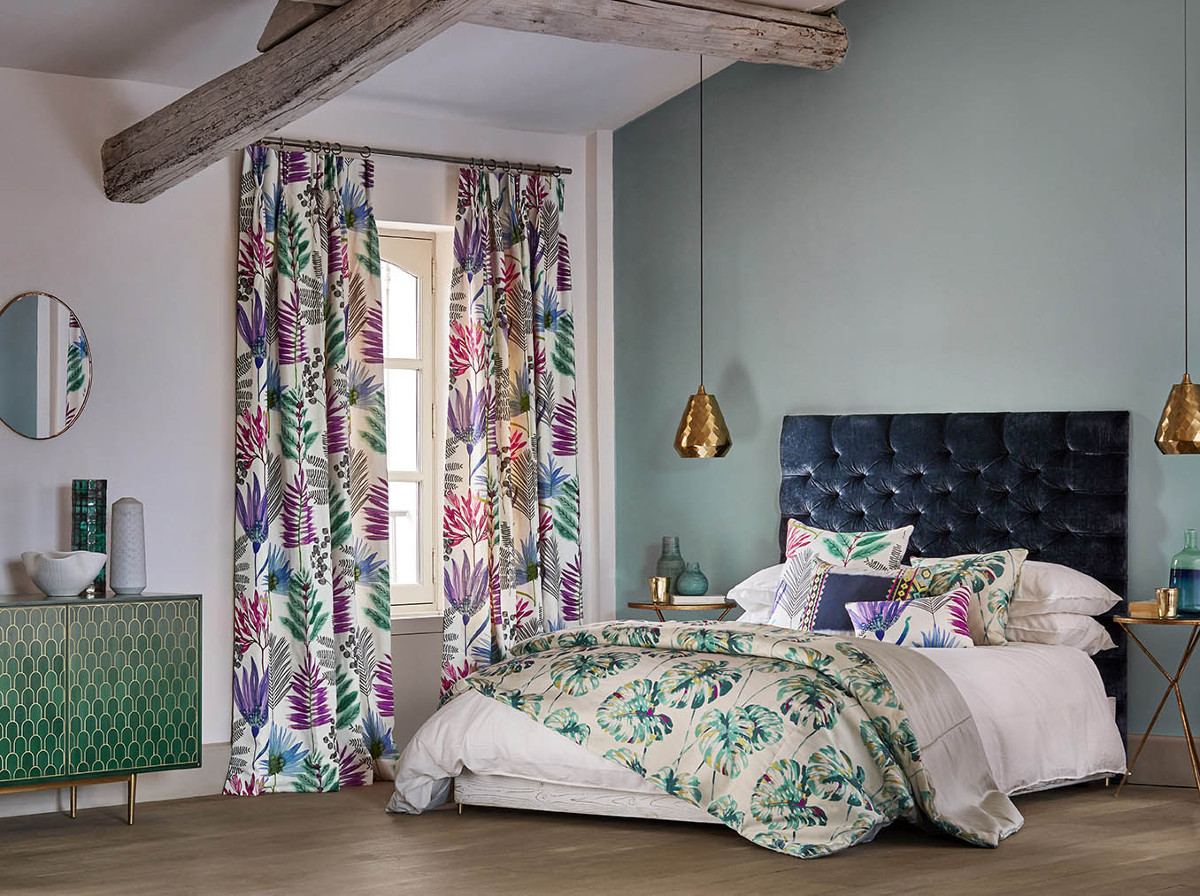 Kolekcja tapet i tkanin Zapara od marki Harlequin - produkty są dostępne w naszych showroomach