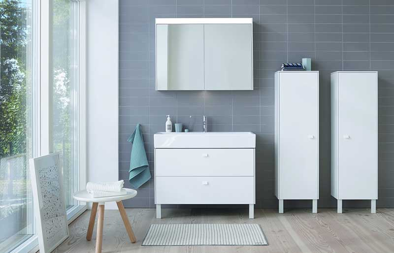 Meble łazienkowe Brioso od Duravita - pytaj o produkty tej marki w naszych showroomach