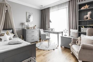 Przepiękny pokój dziecięcy | proj. SAS Wnętrza i Kuchnie