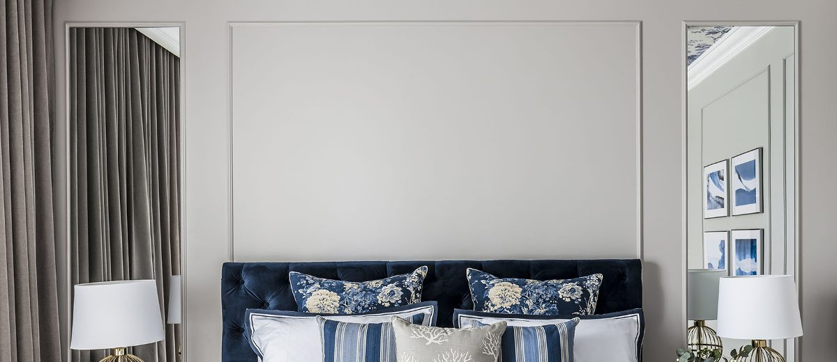 Sypialnia z akcentem na sufit | proj. SAS Wnętrza i Kuchnie