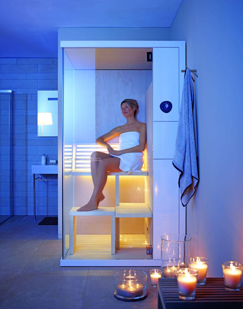 sauna w małej łazience