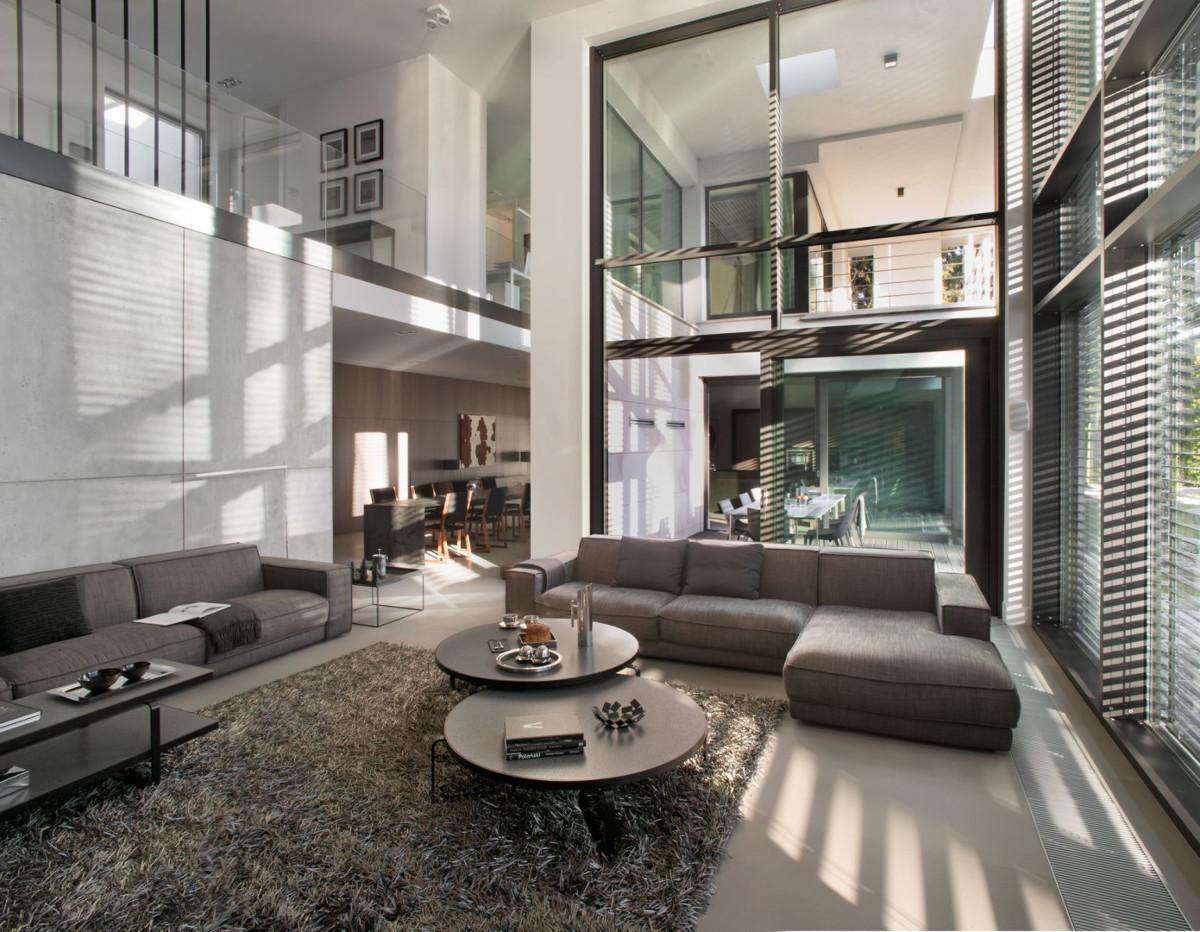 Antresola w nowoczesnym domu | proj.. Exit Design