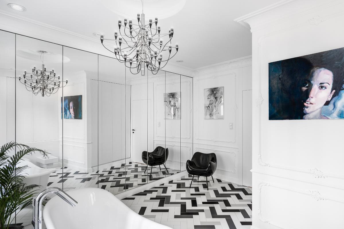 Łazienka w paryskim klimacie | proj. Anna Maria Sokołowska Architektura Wnętrz