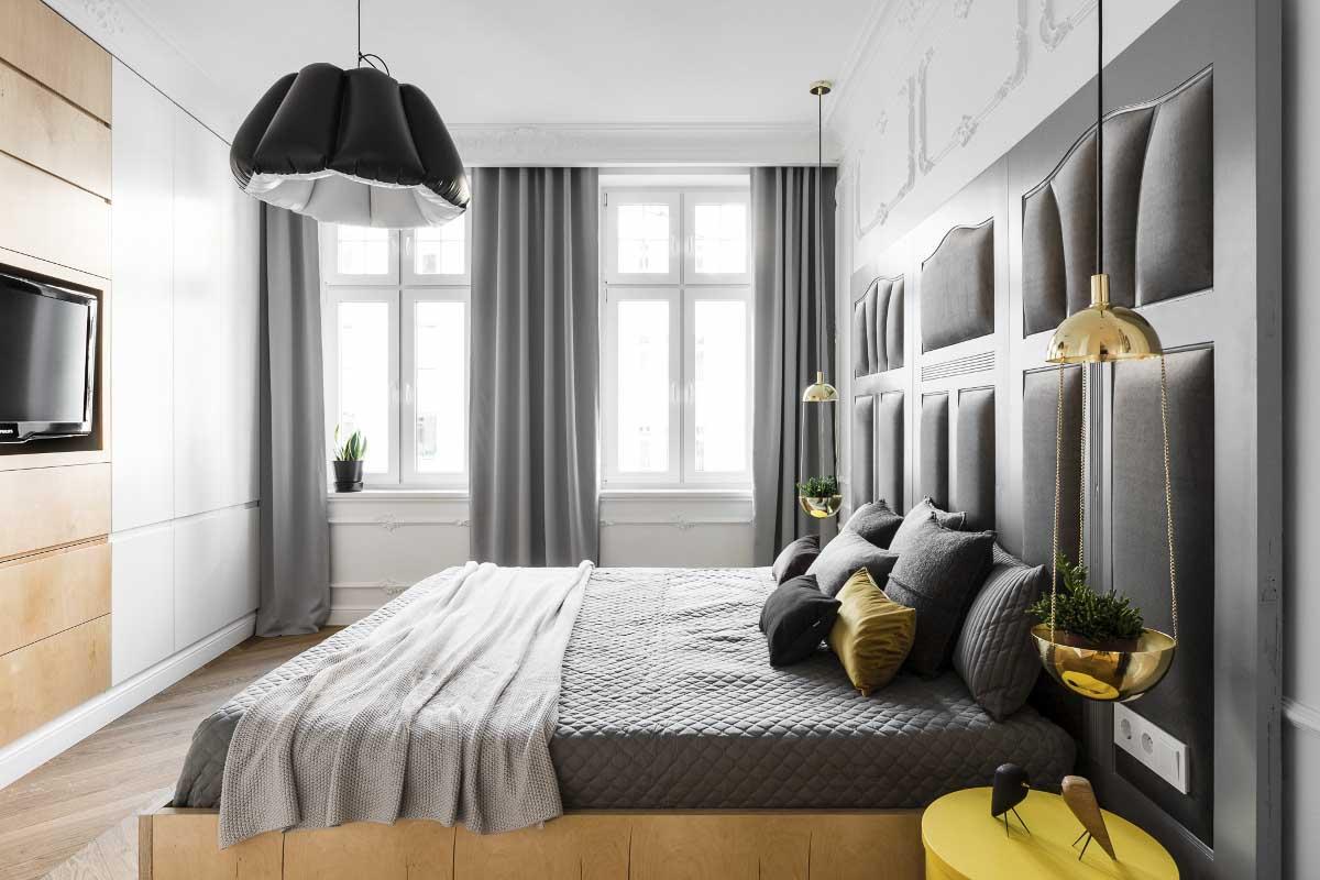Sypialnia | proj. Anna Maria Sokołowska Architektura Wnętrza (zdjęcia: Fotomohito)