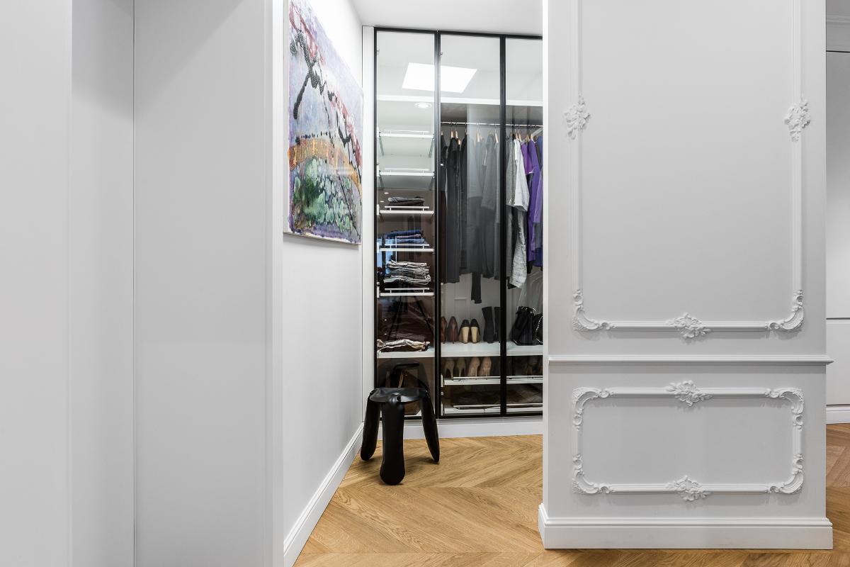 Garderoba | proj. Anna Maria Sokołowska Architektura Wnętrza (zdjęcia: Fotomohito)