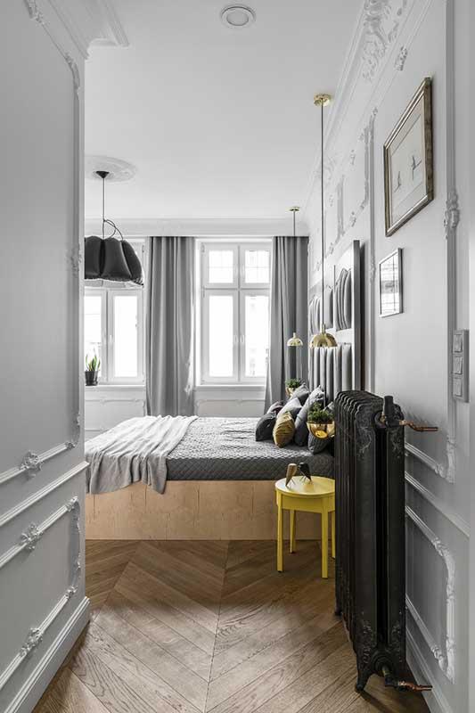 Bardzo stylowa aranżacja sypialni | proj. Anna Maria Sokołowska Architektura Wnętrz (zdjęcia: Fotomohito)