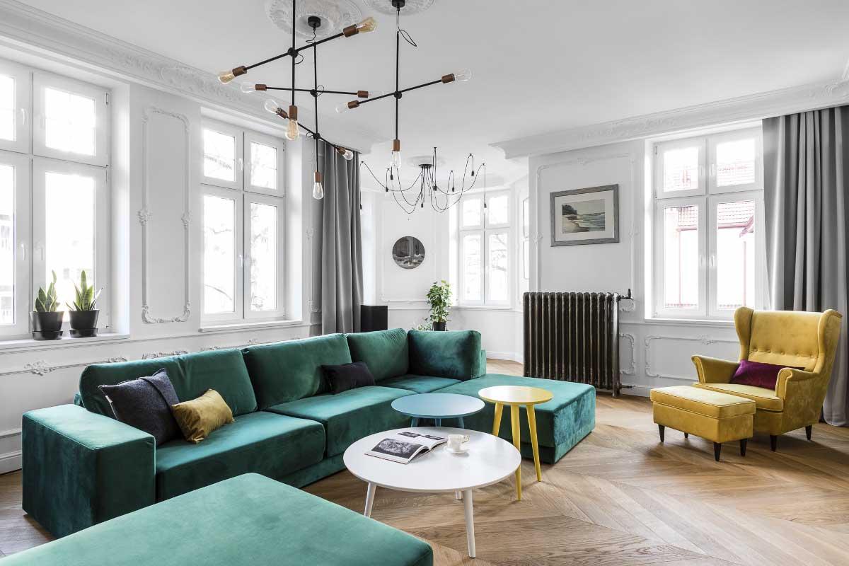 Salon w paryskim klimacie | proj. Anna Maria Sokołowska Architektura Wnętrz (zdjęcia: Fotomohito)