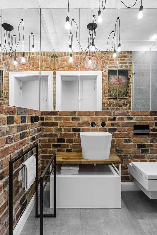 Łazienka z nutą industrialnego klimatu | proj. Anna Maria Sokołowska Architektura Wnętrz
