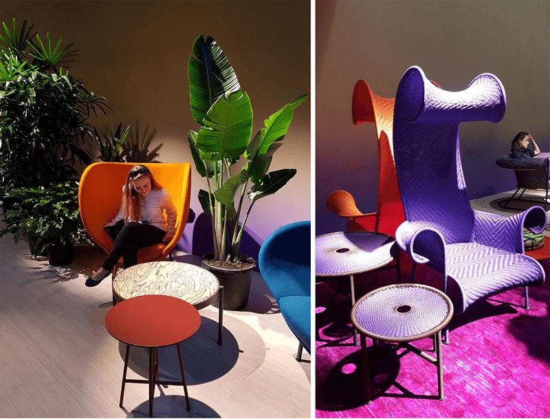 Odważne kolory we wnętrzach | stoisko Moroso