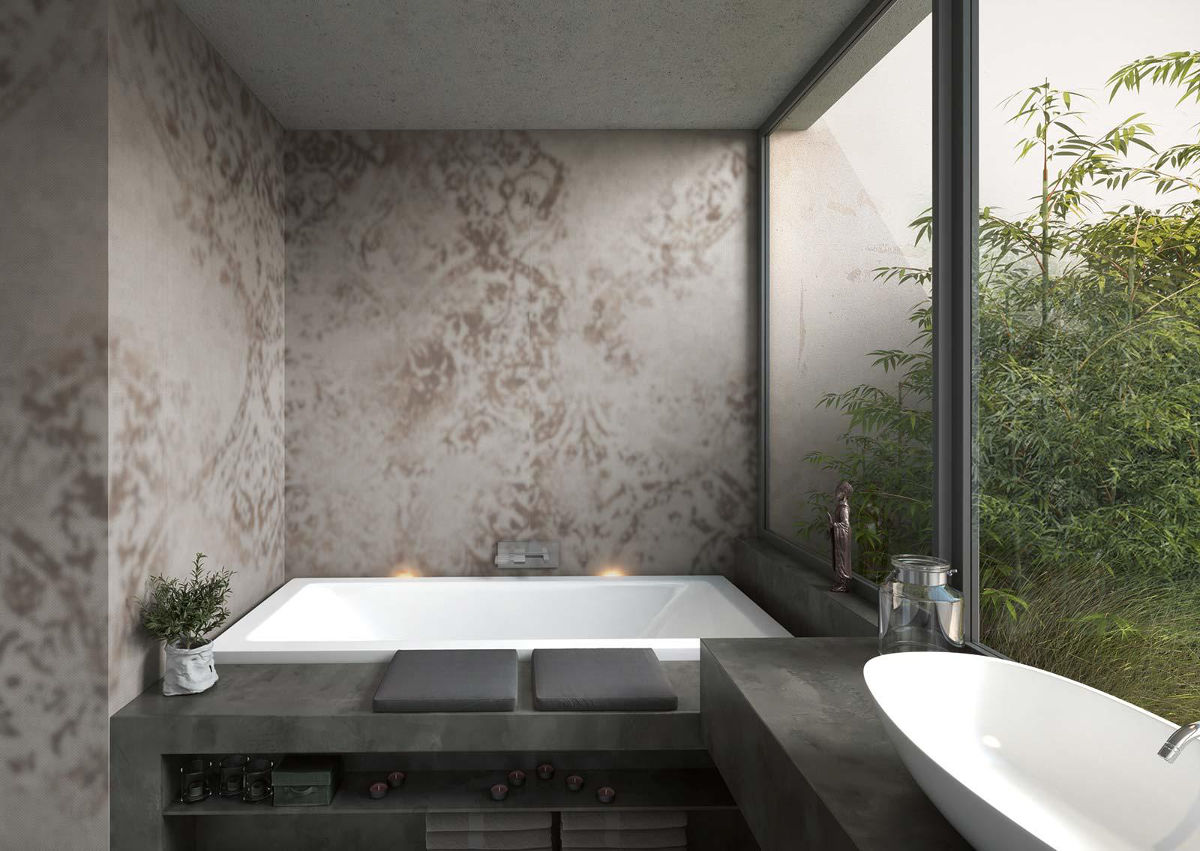 Oaza relaksu (w projekcie są wykorzystane płytki Grand Carpet marki Marazzi)