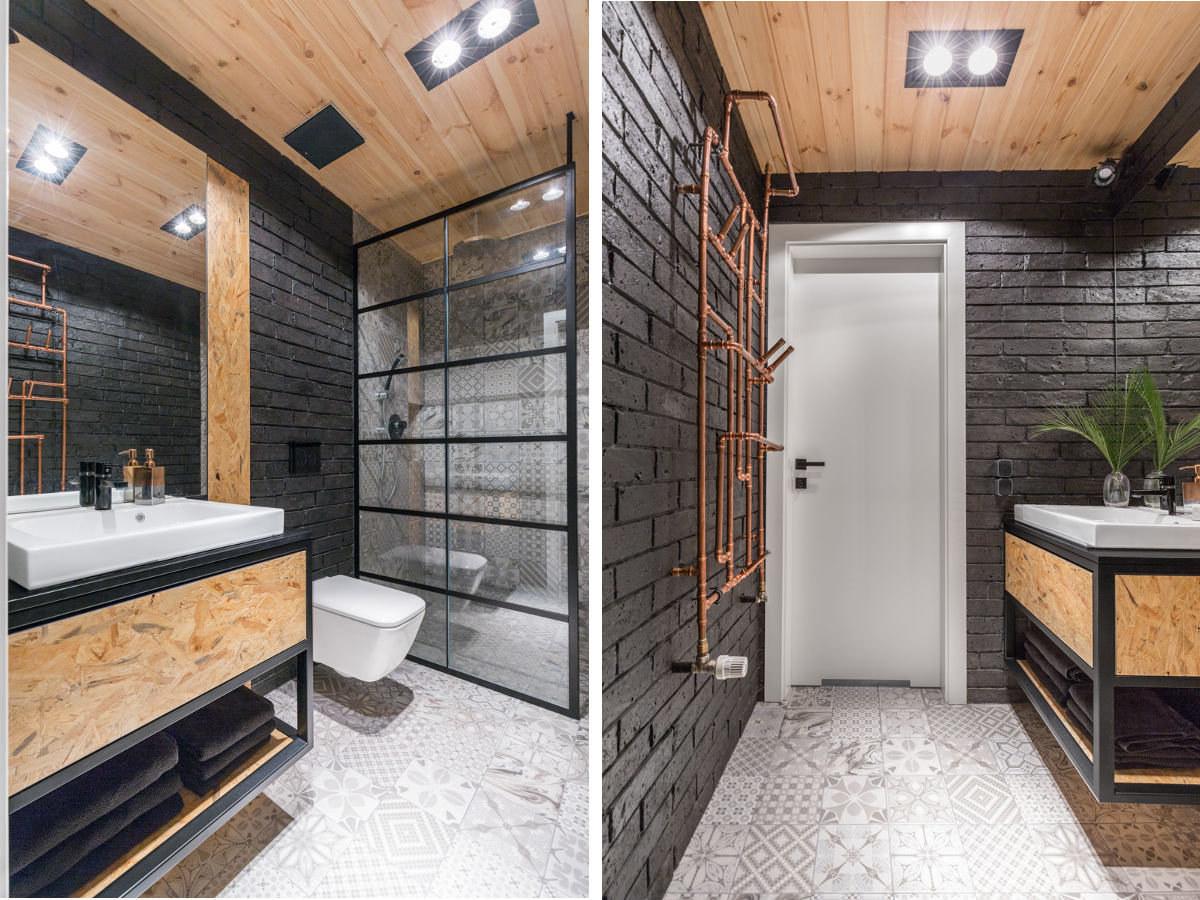 Szara łazienka Zobacz 25 Najciekawszych Projektów Architektów