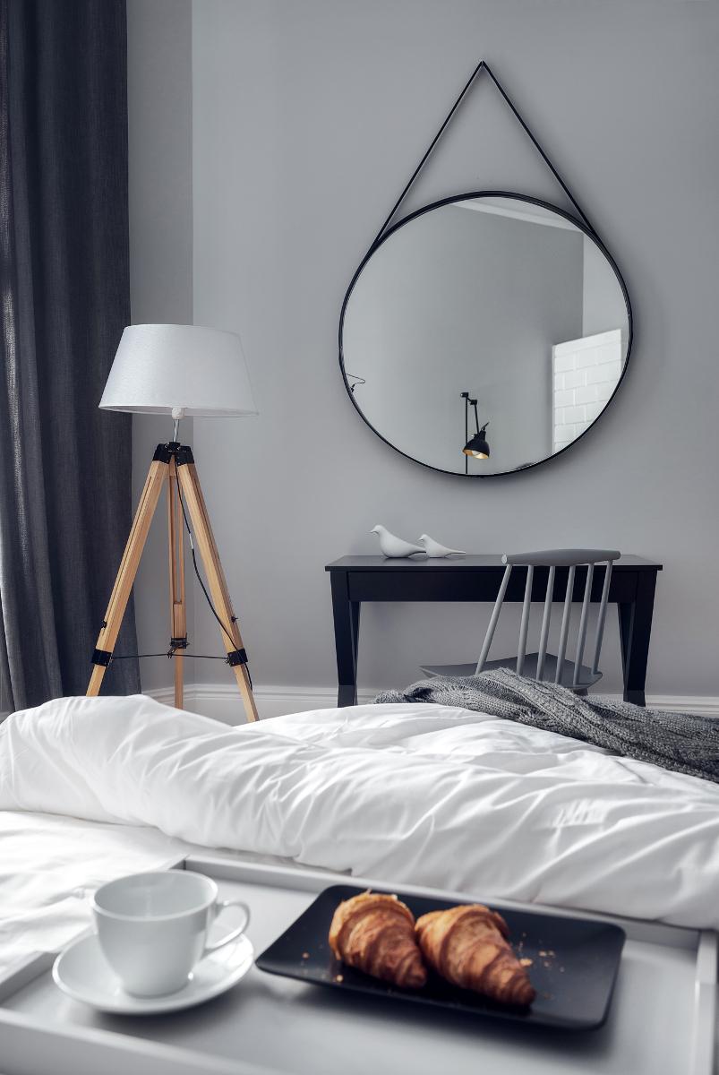 Szara sypialnia | proj. luumo.