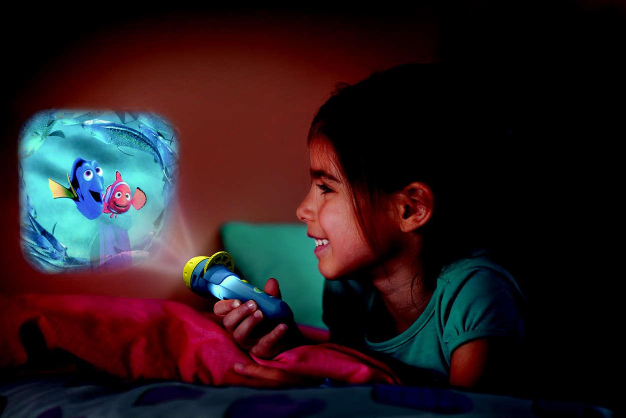 Projektor i  latarka w jednym od marki Philips (produkt dostępny w naszych showroomach)