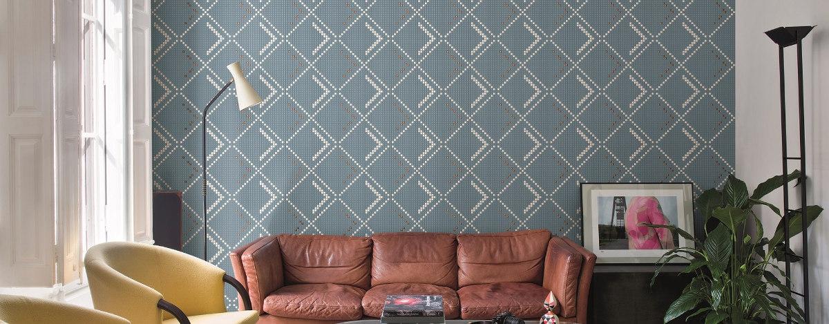 Mozaika marki Sicis w salonie (produkt dostępny w naszych showroomach)