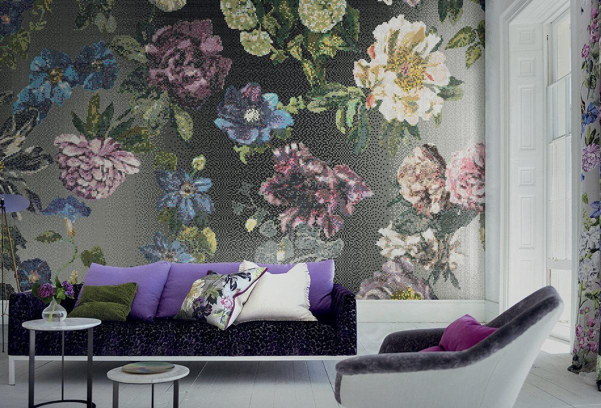 Mozaika marki Bisazza w salonie (produkt dostępny w naszych showroomach)