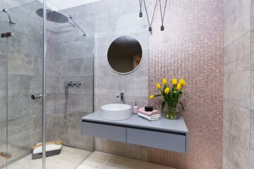 Łazienka z Prysznicem od Hushlab | Produkty dostępne w Internity Home