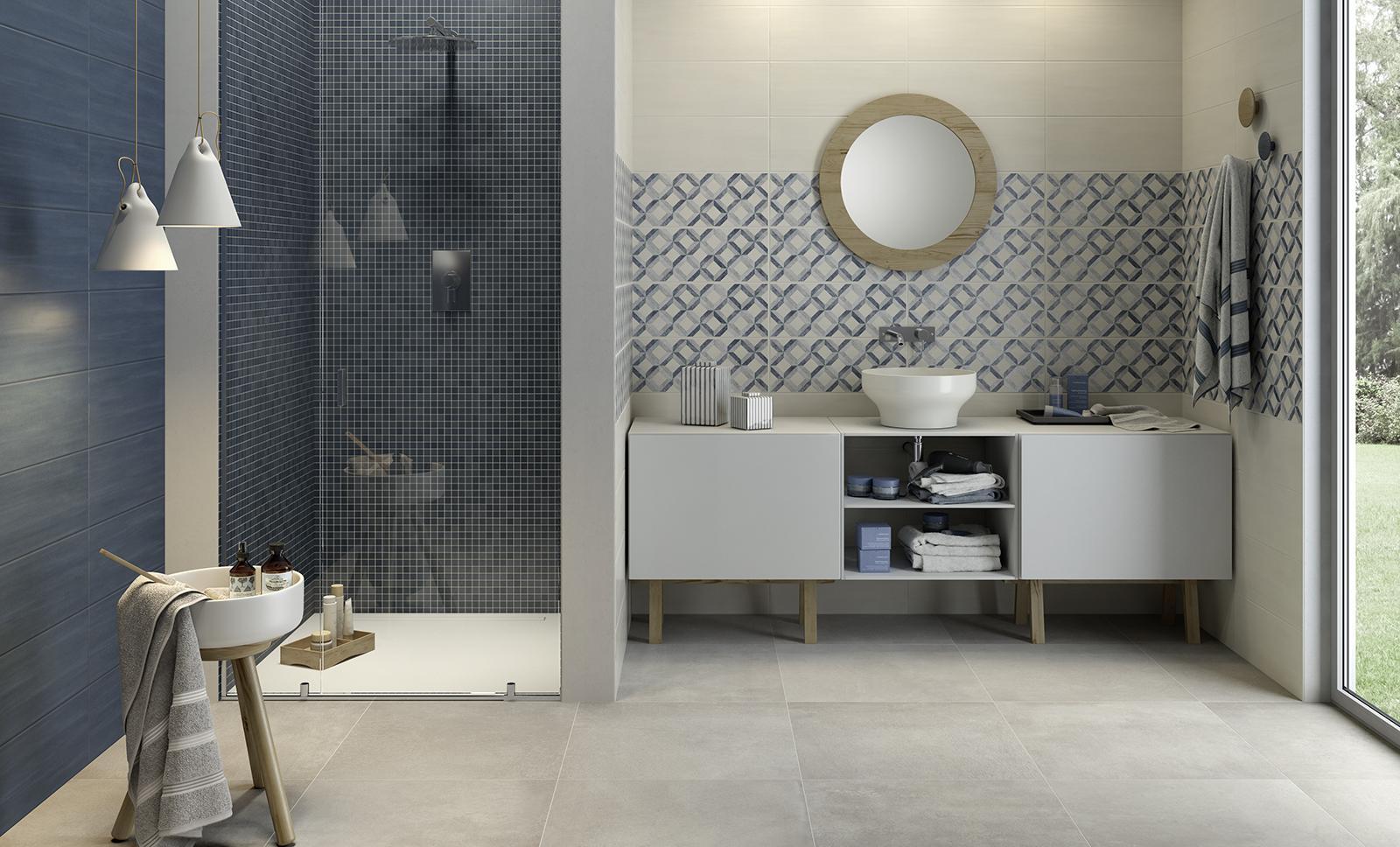 łazienki W Odcieniach Od Niebieskiego Po Ciemny Granat