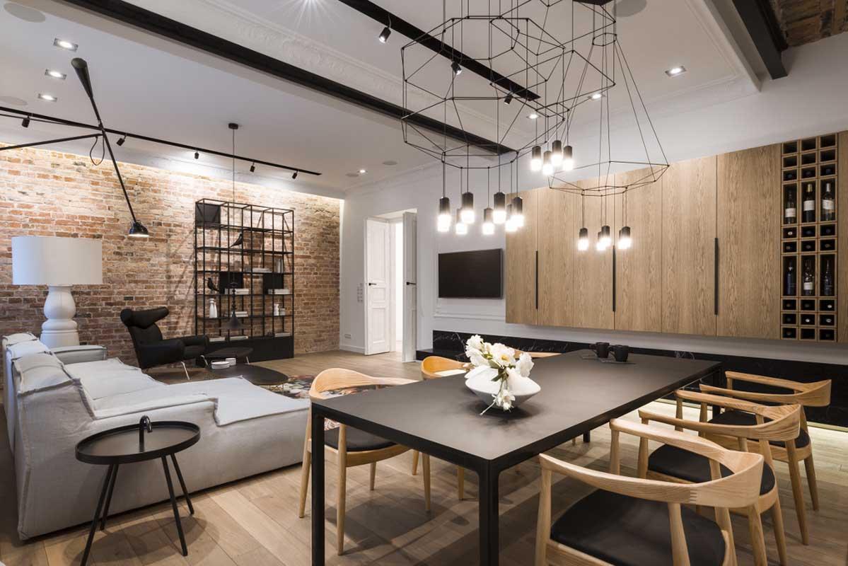 Apartament w zabytkowej kamienicy | proj. Nasciturus design