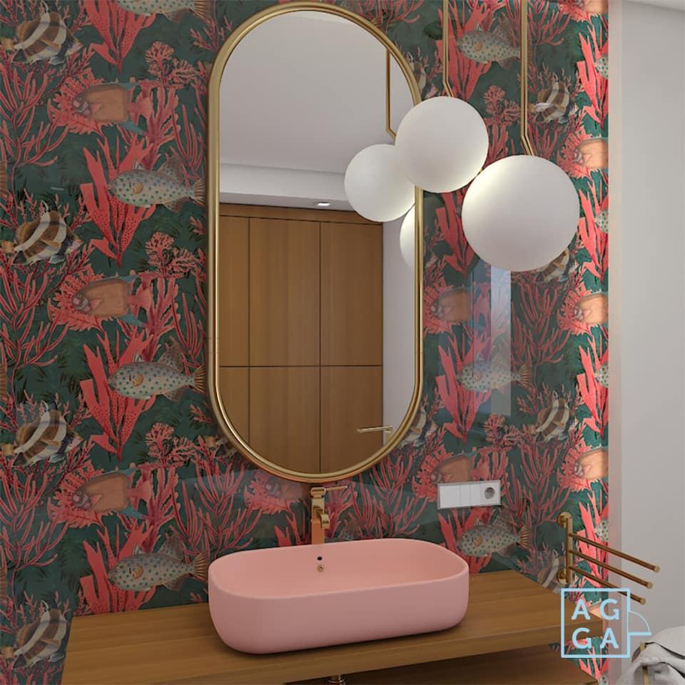 Projekt łazienki w kolorze Aga Gajkowska