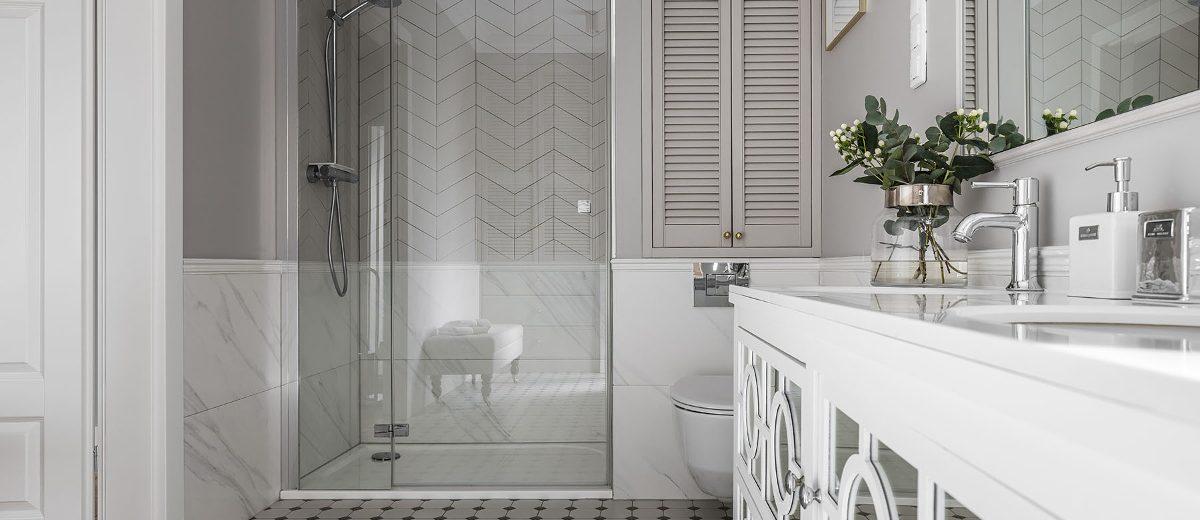 Kwiaty w łazience | proj. SAS Wnętrza i Kuchnie
