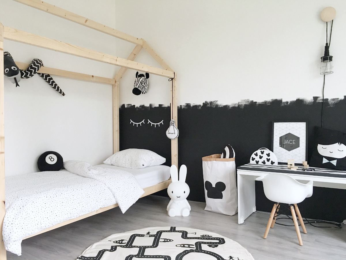 Pokój dziecięcy w kolorach black & white