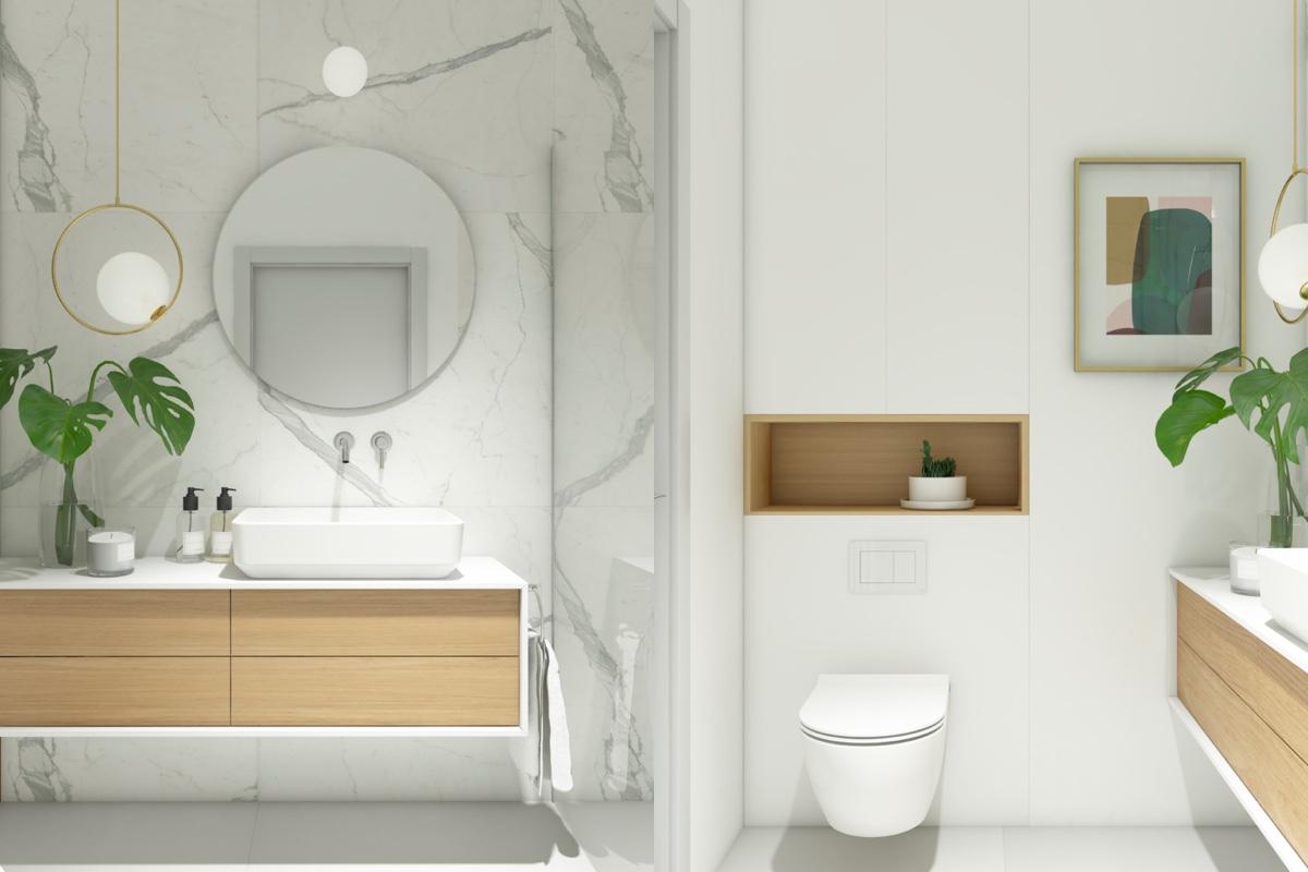 Prosta skandynawska łazienka
