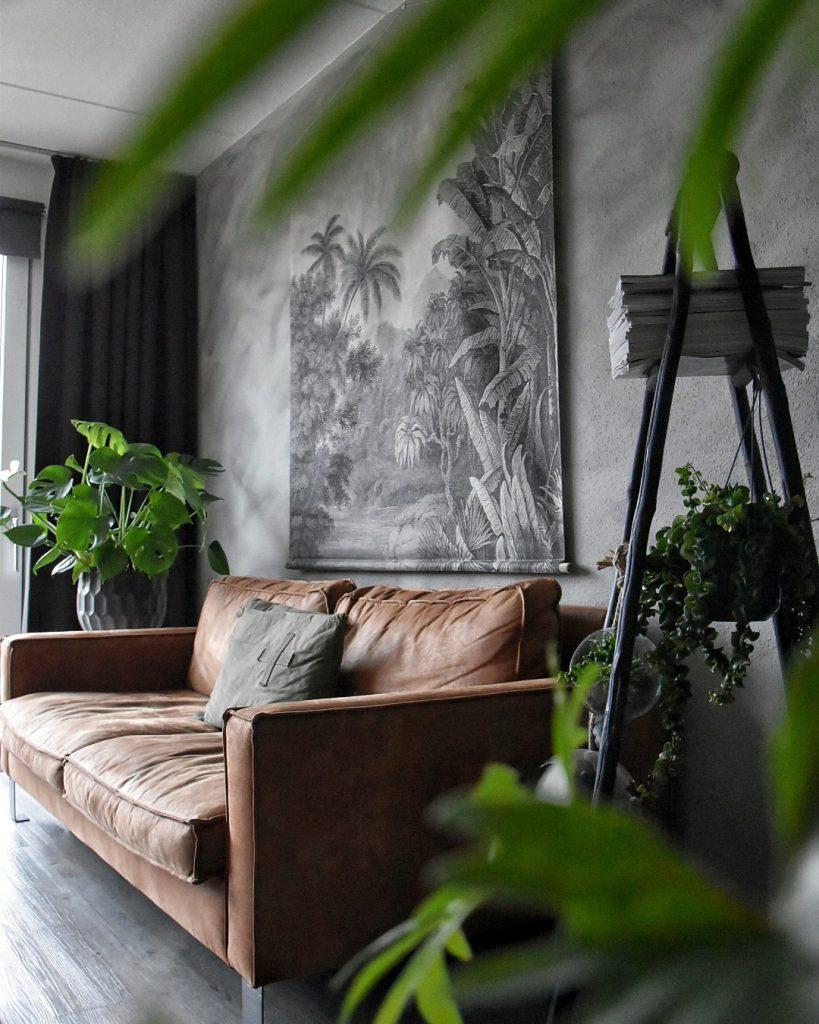 Surowy styl industrialny stanowi doskonałe tło dla roślin