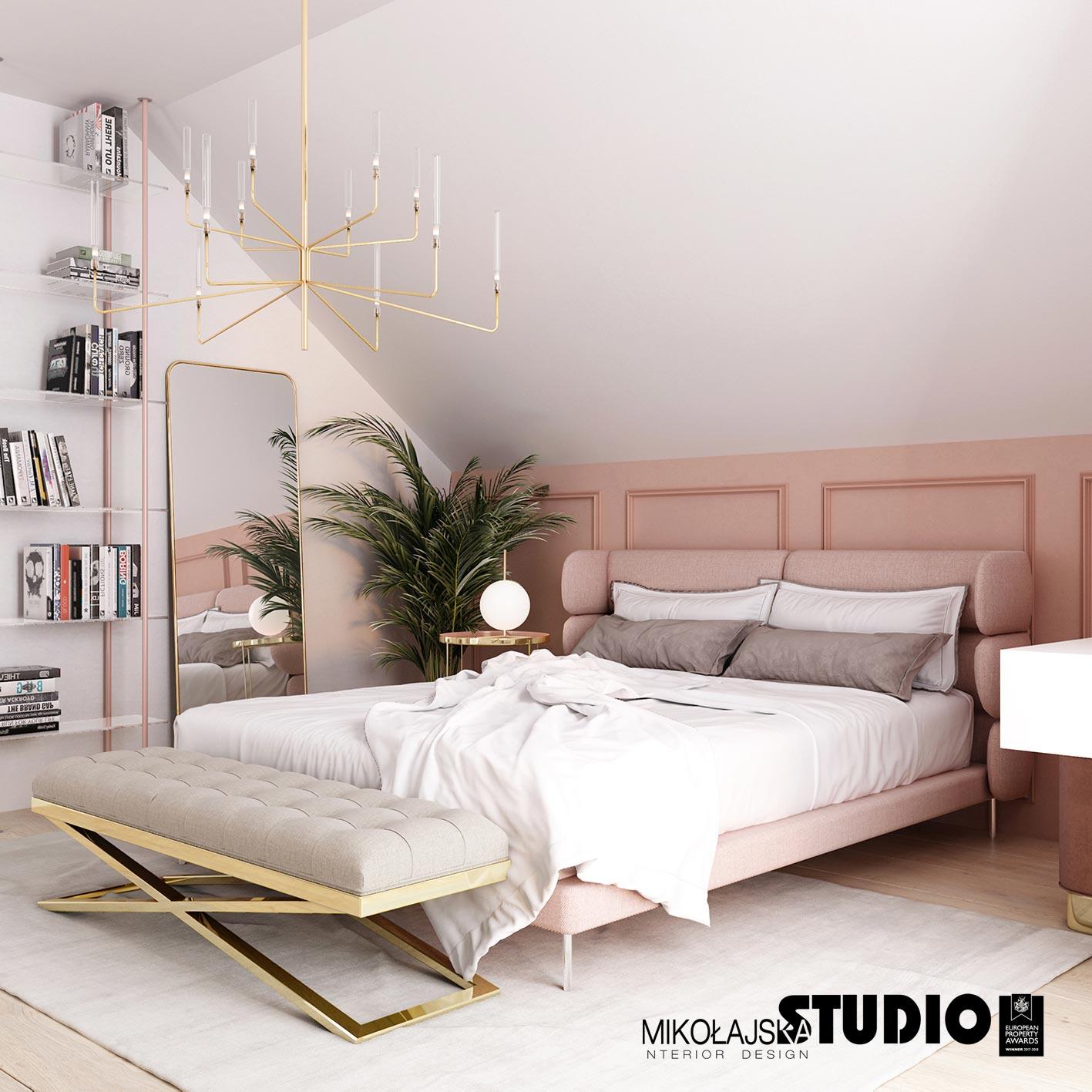 Millennial Pink w projekcie Mikołajska Studio