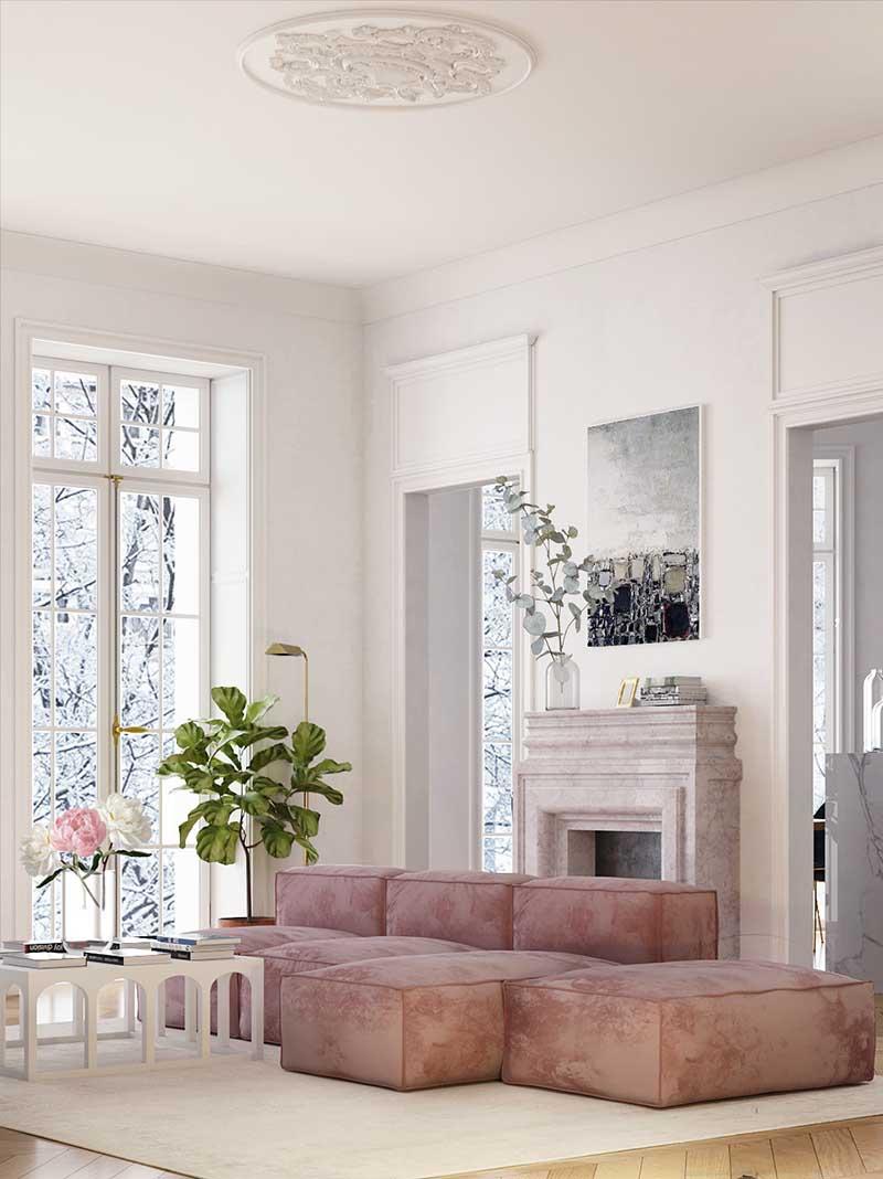 Sofa w całości tapicerowana