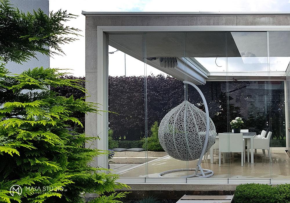Designerskie meble ogrodowe w projekcie TK Architekci