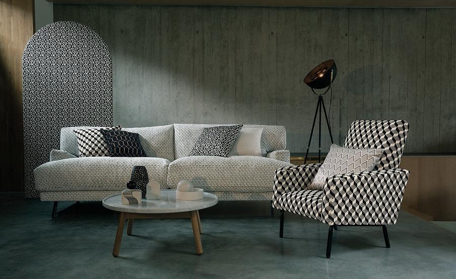 Tkanin w ciekawe wzory to Kirkby Design