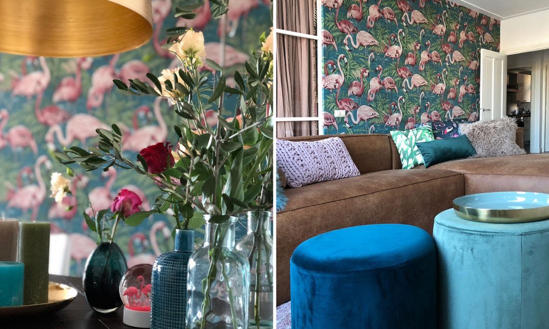 Tapeta we flamingi od Arte jest dostępna w naszych showroomach