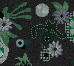 Płytki Bisazza Mosaico 14 Moonlight Garden 258,2 x 290,5