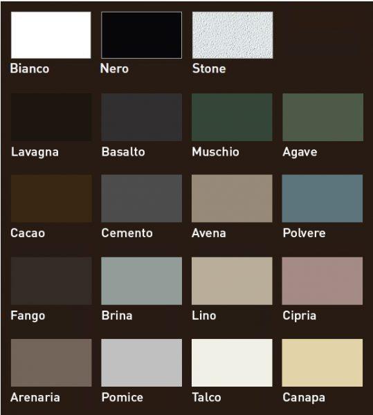 Dostępne kolory ceramiki