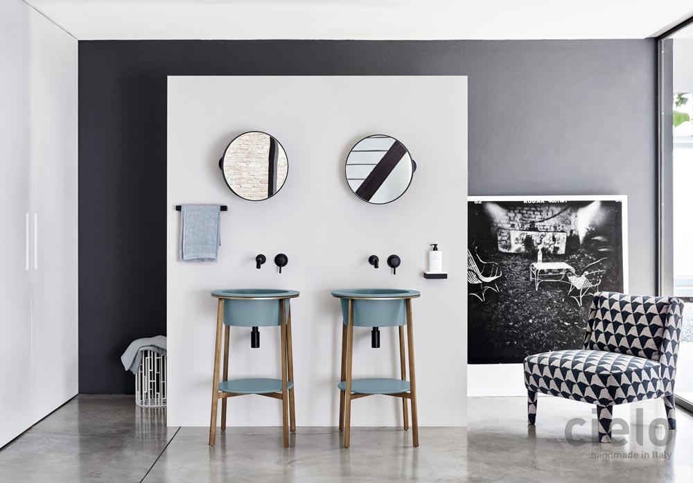 Kolorowe umywalki i inne elementy sanitarne do wyposażenia łazienki od marki Cielo są dostępne w naszych showroomach: Internity Home i Prodesigne